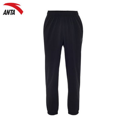 Picture of Anta Women Woven Track Pants Black