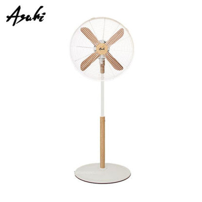 """Picture of ASAHI 16""""  WOODEN BLADE DESIGN STAND FAN XF-6077"""