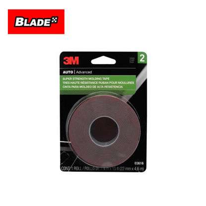 Picture of 3M Auto Advanced 03616 Super Strength Molding Tape(22mm x 4.6m)