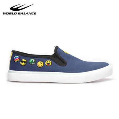 Picture of World Balance Smiley X Chuckle YB for Kids - Navy Blue