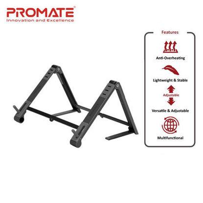 Picture of Promate Elevate Aluminum Multi-Angle Origami Stand Black