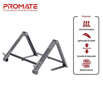 Picture of Promate Elevate Aluminum Multi-Angle Origami Stand Grey