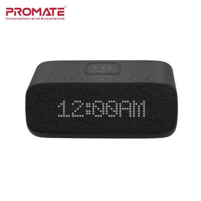 Picture of Promate Evoke Wireless Speaker with Alarm Clock Black