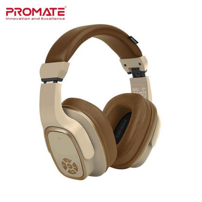 Picture of Promate Corvin 2-in-1 High Definition Wireless Headphone With Speaker Brown