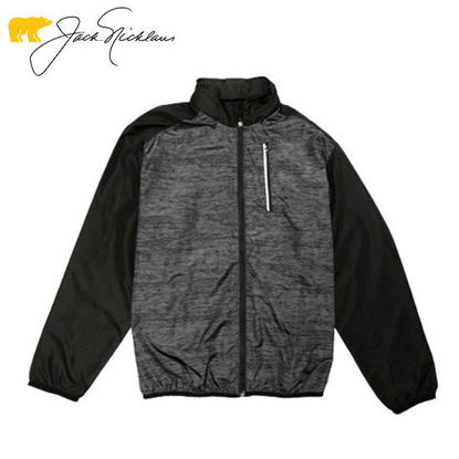 Picture of Jack Nicklaus Black Label Lightweight Packable Full Zip Jacket Caviar