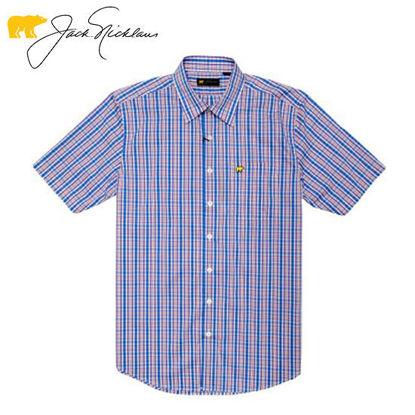 Picture of Jack Nicklaus Black Label 4 Colors Medium Plaid Woven Shirt Confetti - Polo Shirt