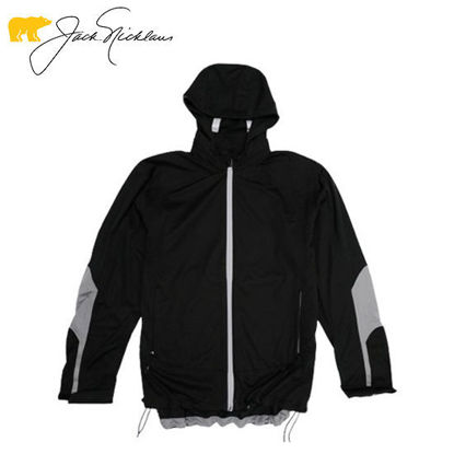 Picture of Jack Nicklaus Black Label Polyurethane Water Resistant Full Zip Jacket Caviar