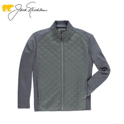 Picture of Jack Nicklaus Black Label Polyester Spandex Quilted Jacket Caviar
