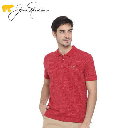 Picture of Jack Nicklaus Blue Label Weston Cotton Spandex Microyarn Polo w/ Flat Knit Collar Slim Fit - Polo Shirt