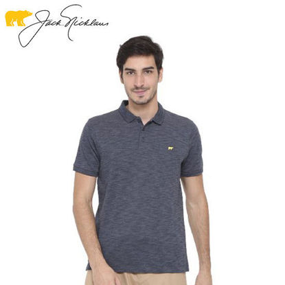 Picture of Jack Nicklaus Blue Label Melford Cotton Polyester Polo w/ Slim Collar Slim Fit Navy Melange