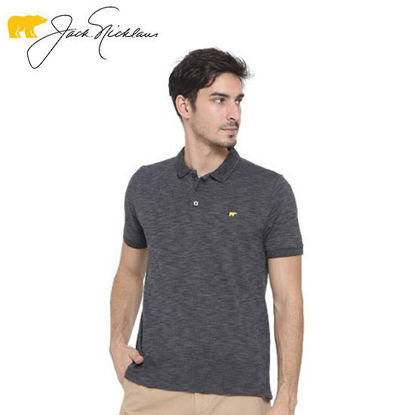 Picture of Jack Nicklaus Blue Label Melford Cotton Polyester Polo w/ Slim Collar Slim Fit Smoke - Polo Shirt