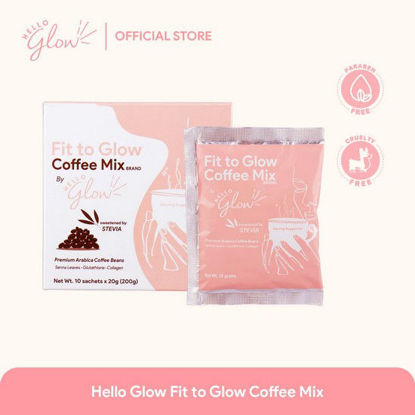 Picture of Hello Glow Fit To Glow Coffee Mix 20g  x 10's