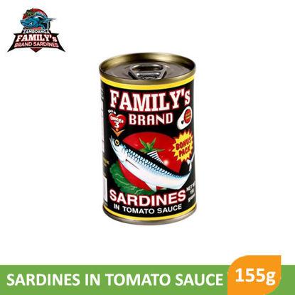 Picture of Family's Brand Sardines Bonus Pack Plain in Tomato Sauce 155g - 024042