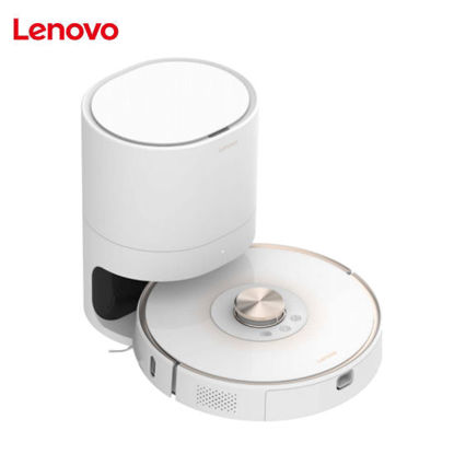Picture of Lenovo T1s Pro(L-VCL0L1) Robot Vacuum Cleaner ONE Package (Laser Navigation+Dustbin Dock) Europe - White