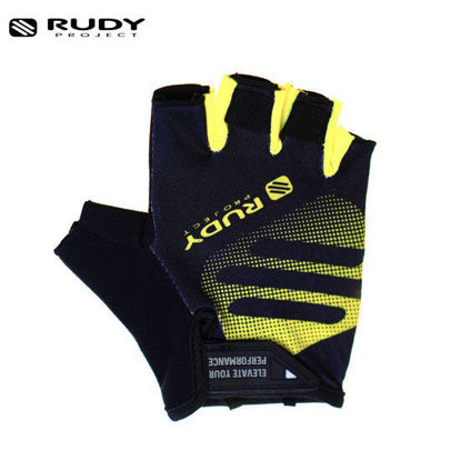 Picture of Rudy Project Bike Gloves in Black and Yellow