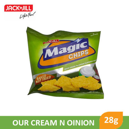 Picture of Jack N Jill Magic Chips Sour Cream N Onion 28g - 081430