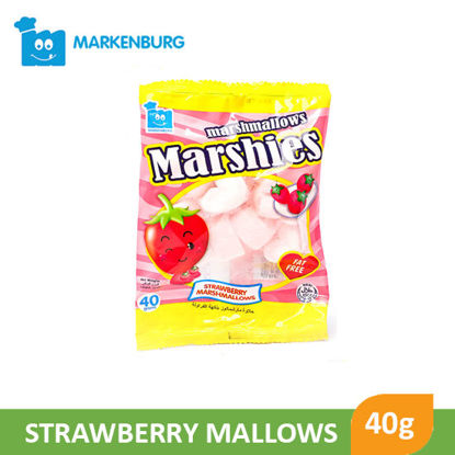 Picture of Markenburg Marshies Strawberry Mallows 40g - 070468
