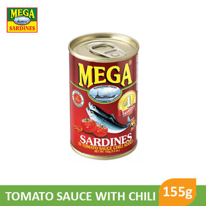 Picture of Mega Sardines Tomato Sauce With Chili 155g - 007883