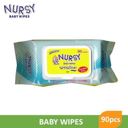 Picture of Nursy Baby Wipes 90 Sheets - 001742