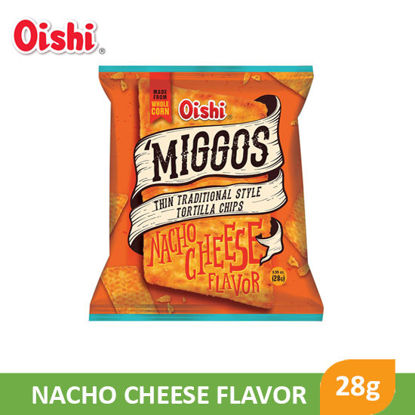 Picture of Oishi Miggos Nacho Cheese Flavor 28g - 099820
