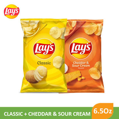Picture of Lays Regular + Lays Cheddar and Sour Cream 6.5 Oz  - 089843