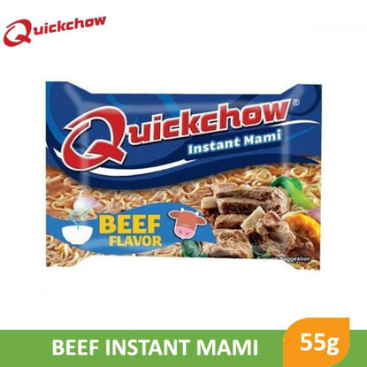 Picture of Quick Chow Instant Mami Noodles Beef 55g -     014783