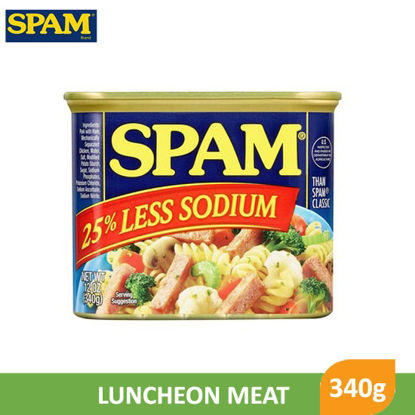 Picture of Spam Luncheon Meat 25% Less Sodium 340g -       082835