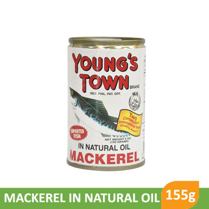 Picture of Youngs Town Mackerel In Natural Oil 155g -  018020