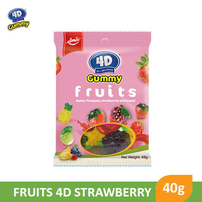 Picture of Gummy Froots 4D Strawberry 40g - 99048