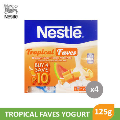 Picture of Nestle Yogurt Tropical Faves 125g x 4's - 98285