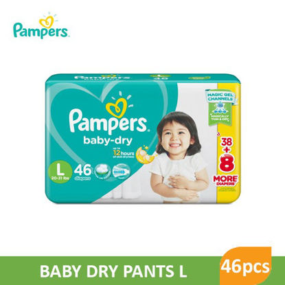 Picture of Pampers Baby Dry Large 43+3 - 079836