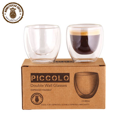 Picture of Monkeyspeak Coffee Piccolo Double Wall Espresso Glass