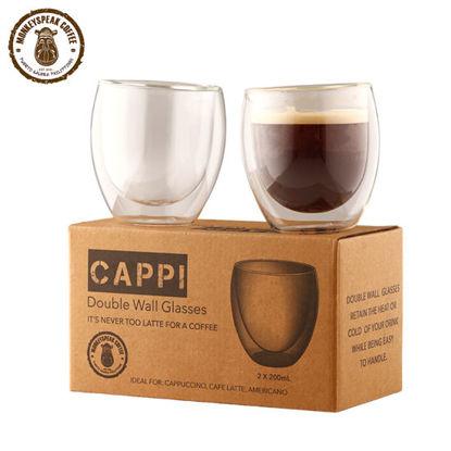 Picture of Monkeyspeak Coffee Cappi Double Wall Espresso Glass