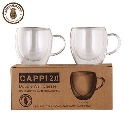 Picture of Monkeyspeak Coffee Cappi 2.0 Double Wall Glass (with handle)