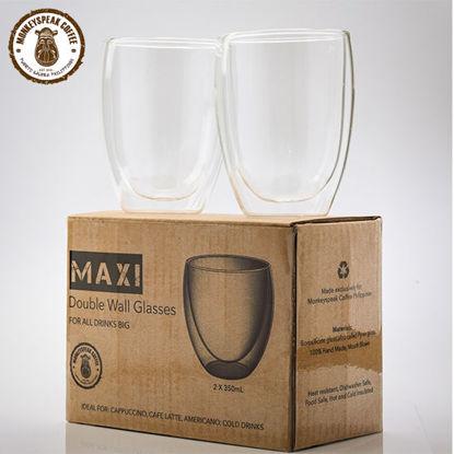 Picture of Monkeyspeak Coffee Maxi Double Wall Glass 350 ml