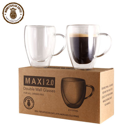 Picture of Monkeyspeak Coffee Maxi 2.0 Double Wall Glass (with handle)