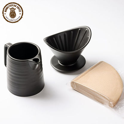 Picture of Monkeyspeak Coffee Ceramic Coffee Drip Set V60 with Filter