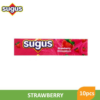 Picture of Sugus Strawberry Sticks 10pcs -  046253
