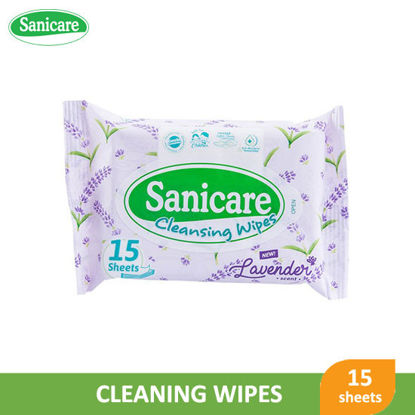 Picture of Sanicare Cleansing Wipes Lavender 15s -  089421