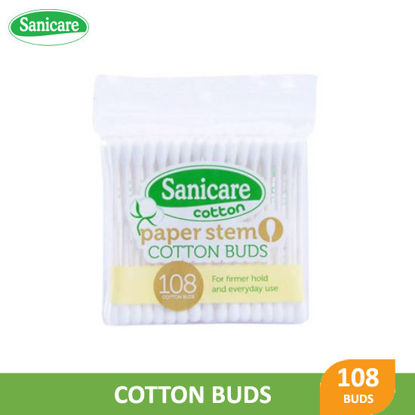Picture of Sanicare Cotton Buds Paper Stem 108 Tips -  076971