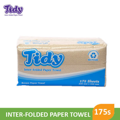 Picture of Tidy Inter Folded Paper Towel Brown 175S - 099154
