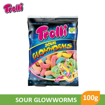 Picture of Trolli Sour Glow Worms 100g - 062757