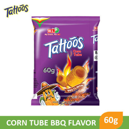 Picture of W.L Foods Tattoos Corn Tube Barbeque flavor 60g - 083472