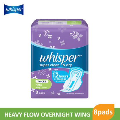 Picture of Whisper Heavy Flow Overnight Wing 8S - 001556