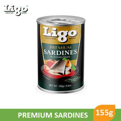 Picture of Ligo Premium Sardines in Tomato Sauce 155g -  001778