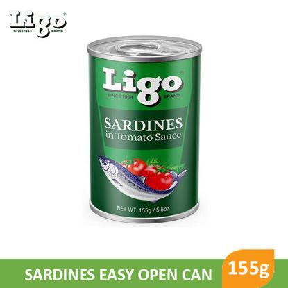 Picture of Ligo Sardines in Tomato Sauce 155g -  077856