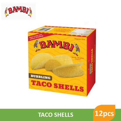Picture of Bambi Bubling Taco Shell 12pcs - 25238