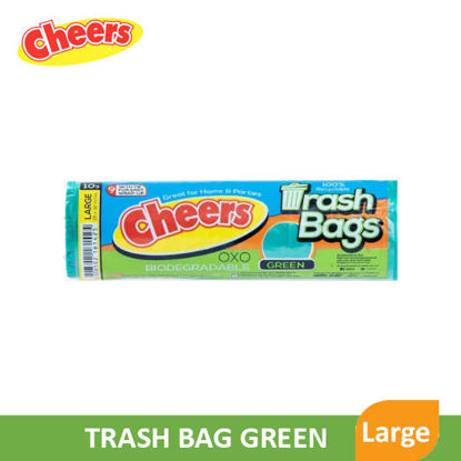 Picture of Cheers Trash Bag Green Large - 80902