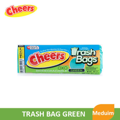 Picture of Cheers Trash Bag Green Medium - 80903