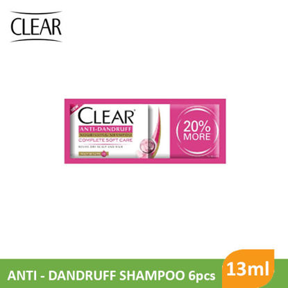 Picture of Clear Shampoo Complete Soft Care 13ml 6pcs - 44066